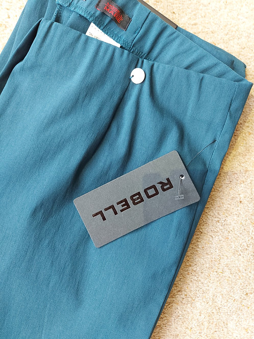Robell - 'Marie' teal classic leg stretch trouser.
