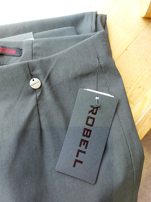 Robell - 'Marie' khaki classic leg stretch trouser.