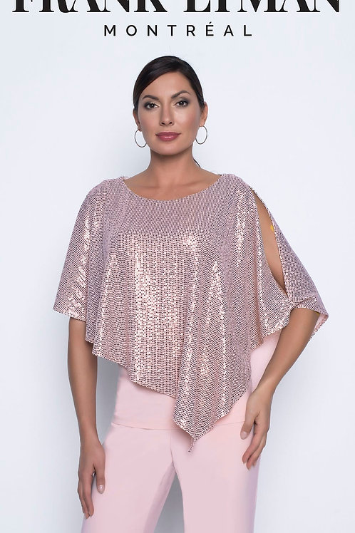 Frank Lyman - Sparkle, Asymmetric pink top and trousers