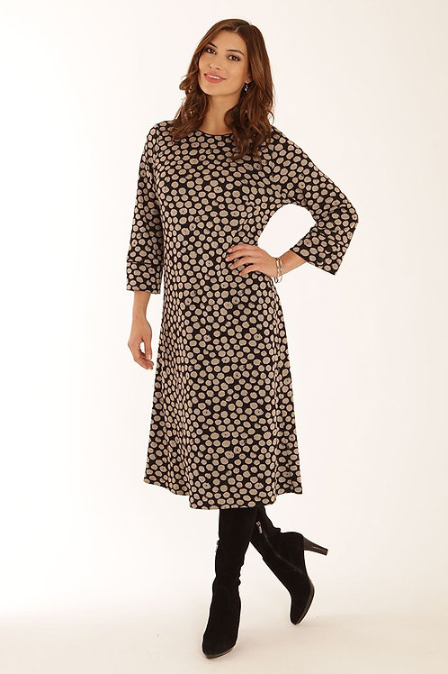 Pomodoro - Black and stone dress