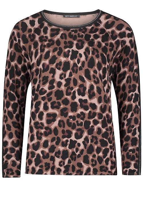 Betty Barclay - Animal knitted jersey top. Viscose mix.