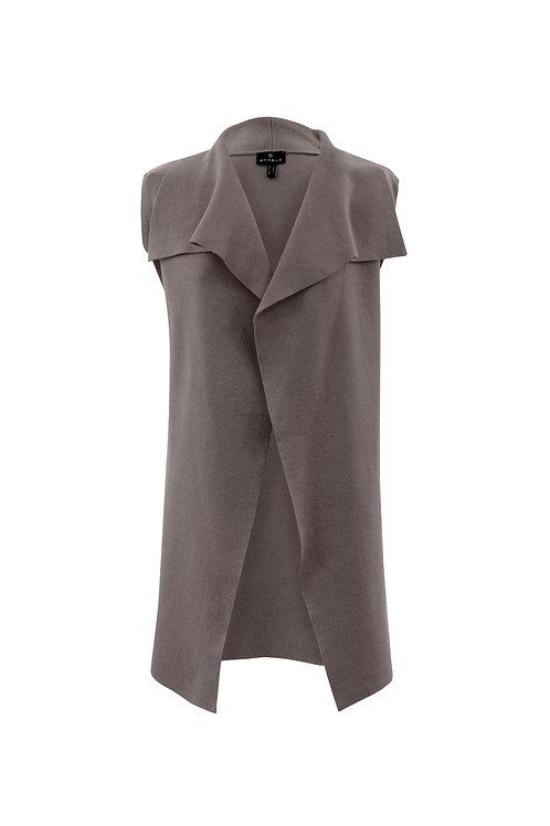 Marble - Taupe gilet jacket