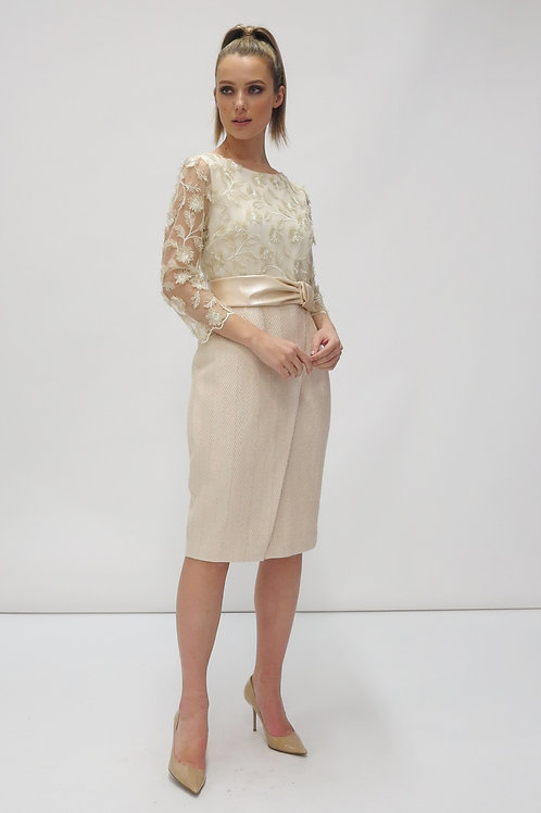 Fee'G -Cream with gold jacket and dress