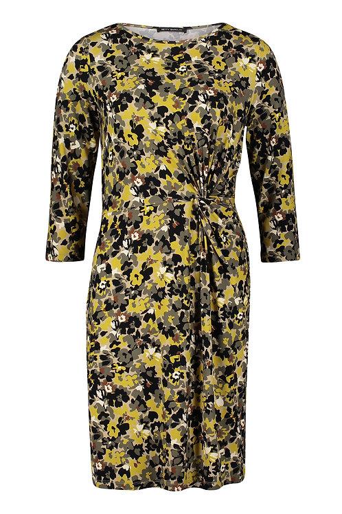 Betty Barclay - Mustard/Khaki jersey printed dress