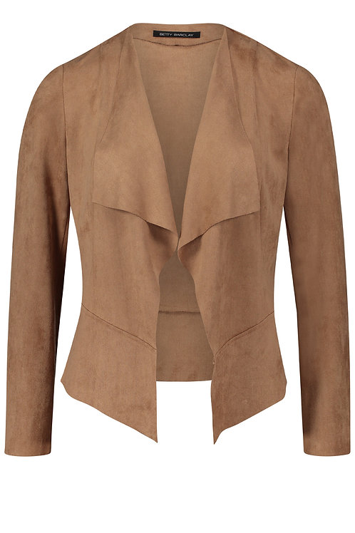 Betty Barclay - Camel faux suede loose jacket