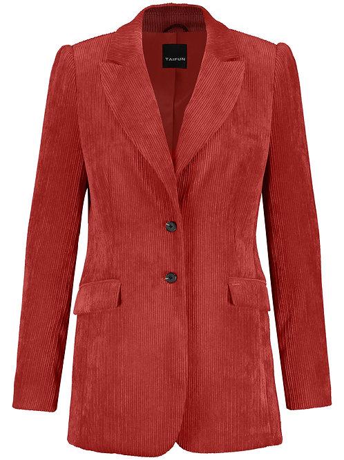 Taifun - Burnt orange corduroy tailored jacket