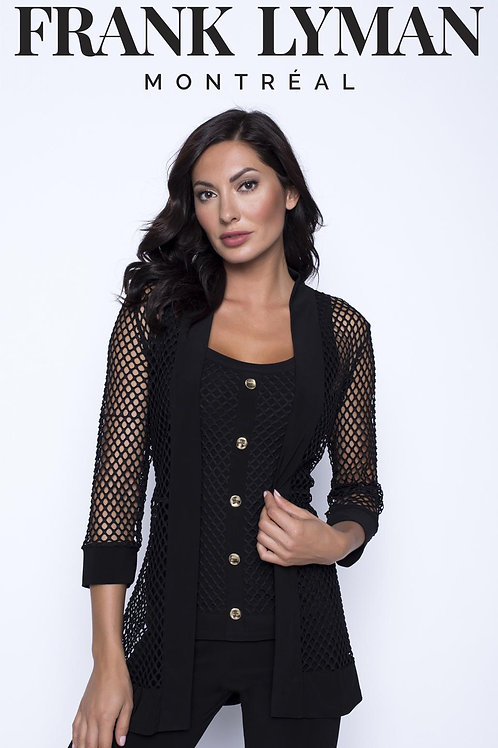 Frank Lyman - Fishnet cover up jacket