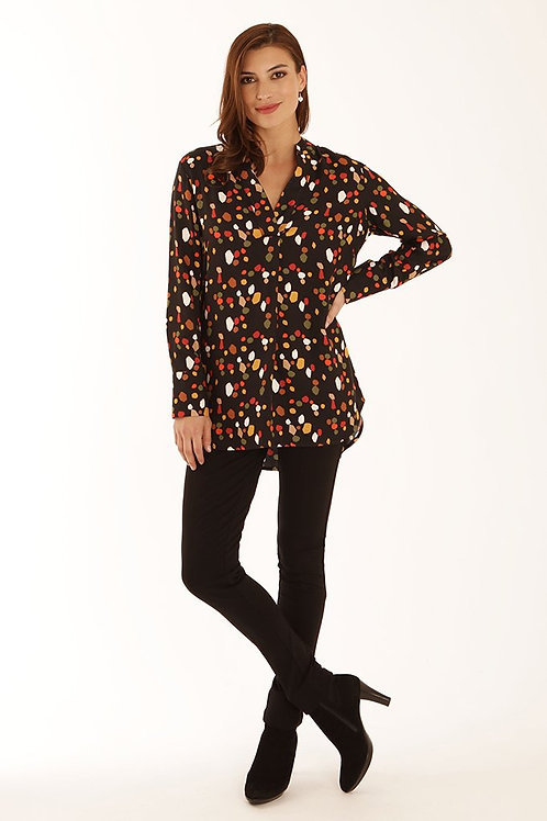 Pomodoro- Multicoloured black/ orange shirt