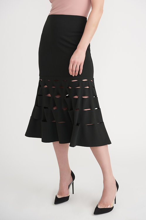 Joseph Ribkoff - Black Skirt With Cut Out Detail
