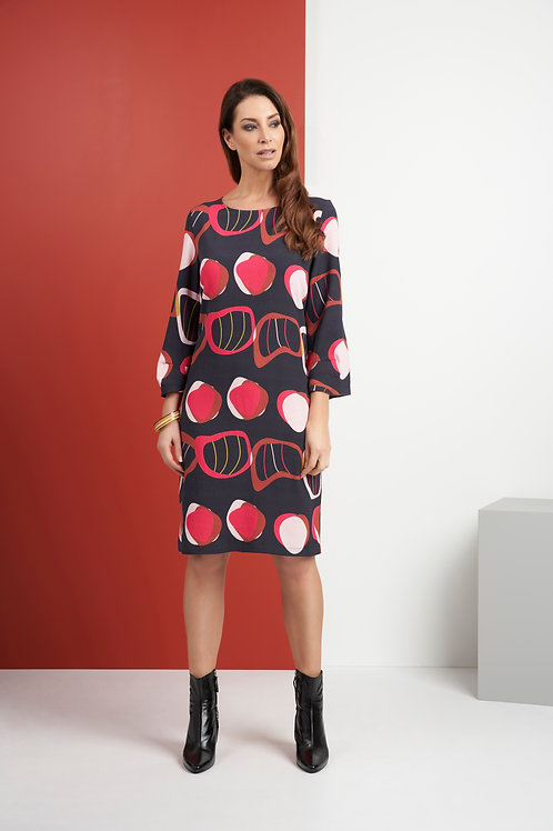 Foil - Tunic shift dress with bold print