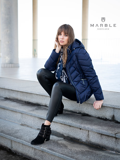 Marble - Navy 2 in one puff jacket/gilet