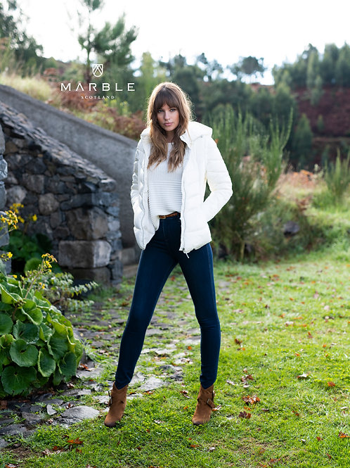 Marble -  Cream 2 in-one Puffa Coat/Gilet