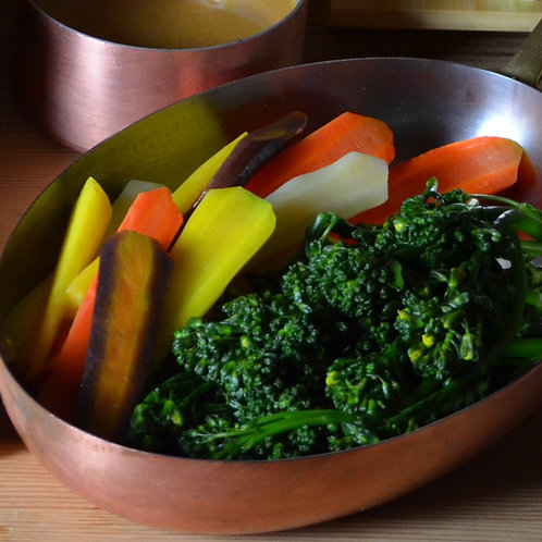 Heirloom Carrots and Broccolini