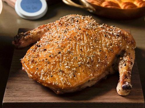 Dry-rubbed Mallard Duck Breast Roti with Orange-Grand Marnier Gastriqueue