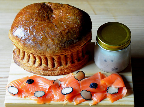 House-smoked Wild Salmon & Duck Pâté Appetizer Platter
