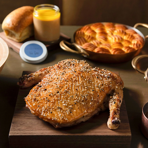 Slow-Roasted Mallard Duck – complete meal serving two