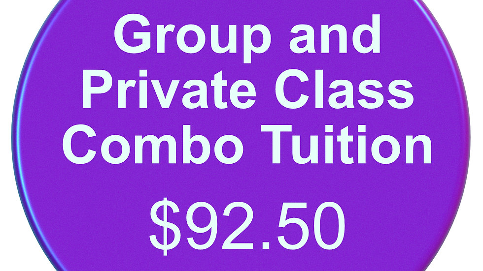 PRIVATE / GROUP COMBO MONTHLY TUITION