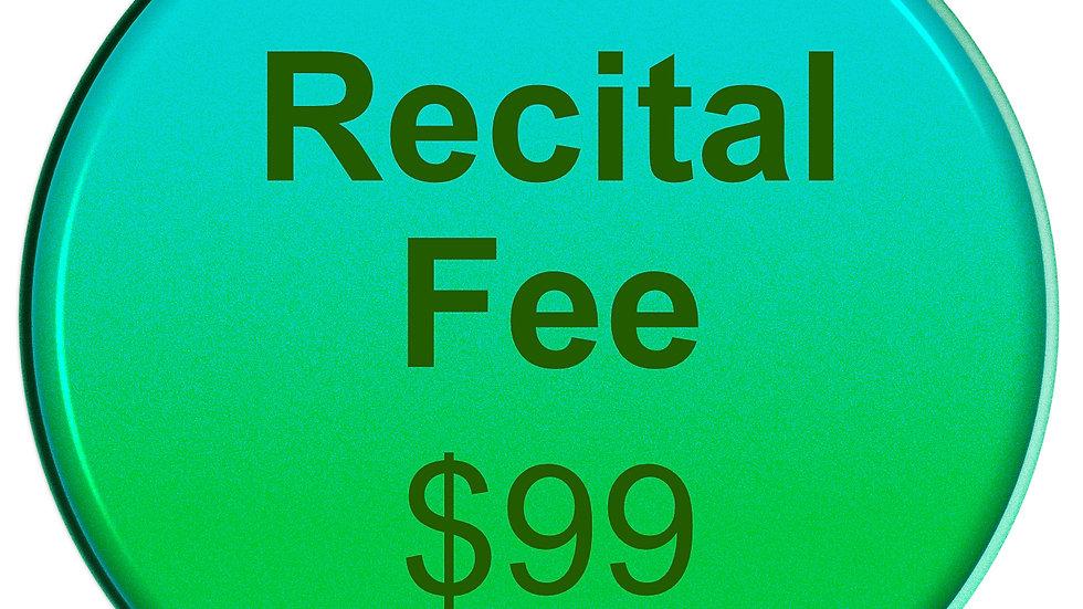 2020 Dance Recital Fee