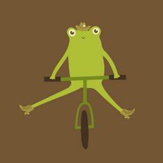 Western Frog On A Bike