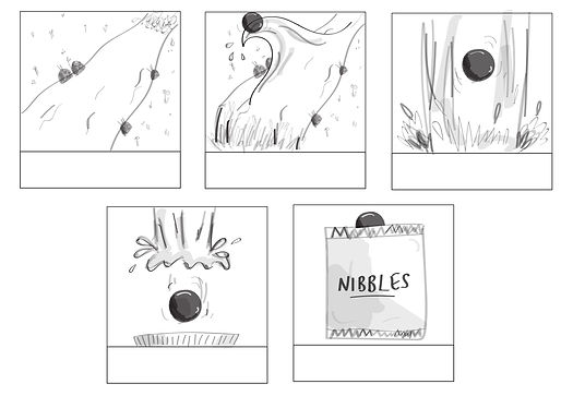 McVitie's Nibbles storyboard