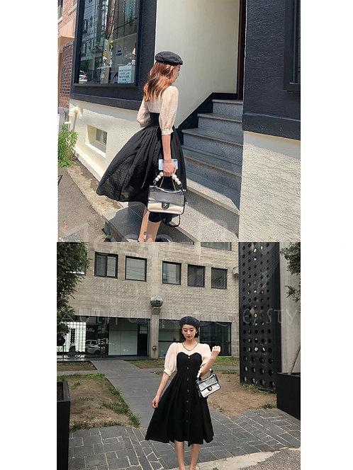 泡泡袖复古连衣裙  Vintage style lantern skirt