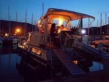 Cena romantica in porto-panoramica barca