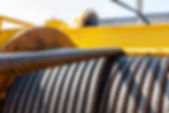 Wire rope sling or cable sling on crane
