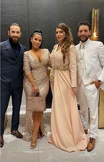 Le couple Medhi et Malika avec le couple d'influenceur Milajasmine