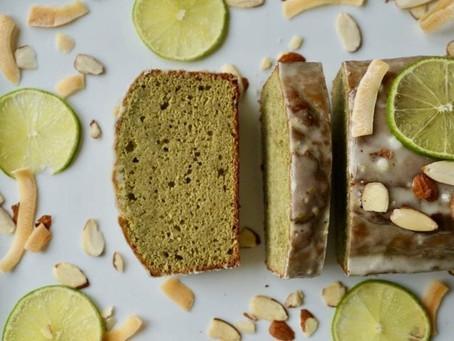 Matcha Coconut Cake With Lime Glaze