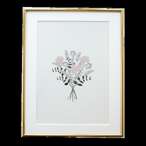 'Botanical Bunch' A5 Wall Print
