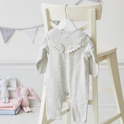 Little Stars and Angel Wings Babygrow - Size 0-3 Months - Sale - 40% off