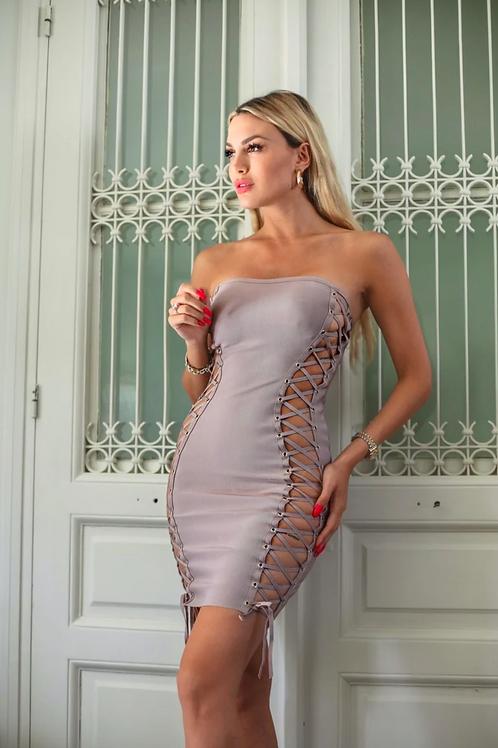 Bandage dusty pink dress