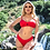 Thumbnail: Rib bikini red set