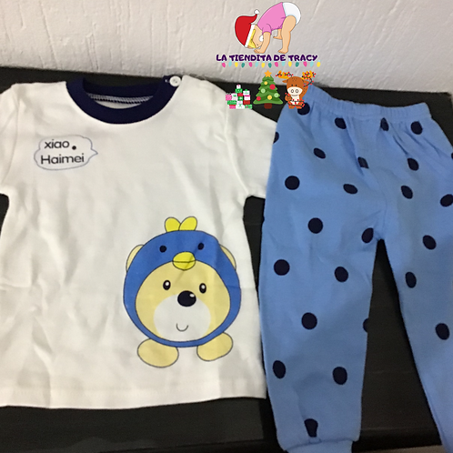Pijama oso azul