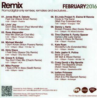 "CD Pool REMIX feature ""Kiss Me"""