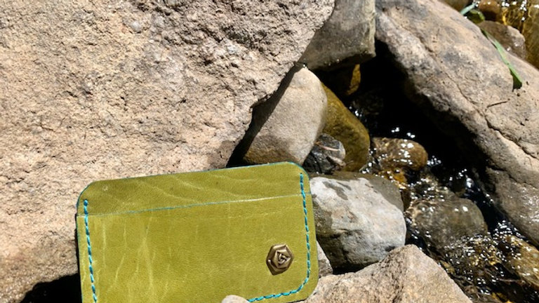 Micro Wallet Pea Green/Turquoise