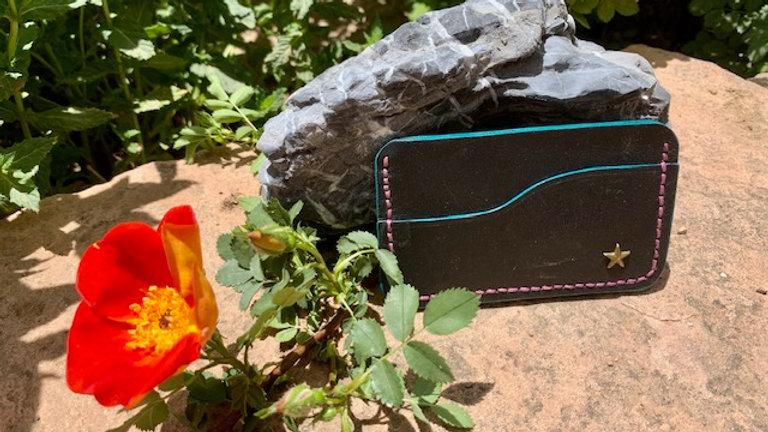 Micro Wallet Black/Turquoise