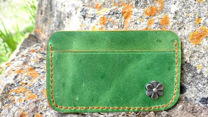 Micro Wallet Green/Orange