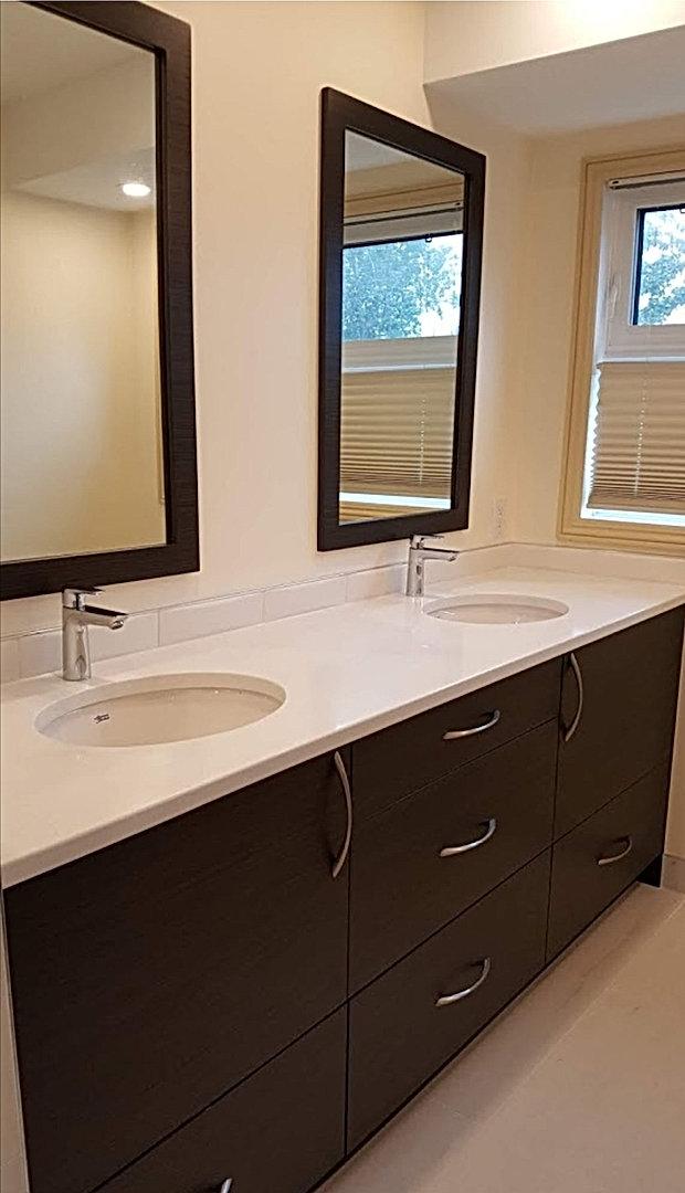 Ebony Double sink Vanity