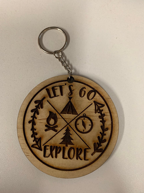 Lets Go Explore Keychain