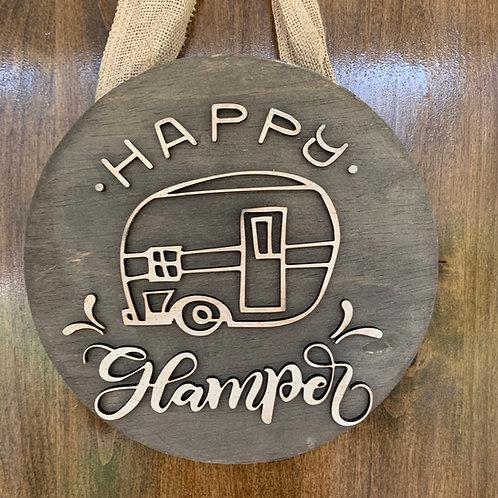 Happy Glamper Wooden Sign