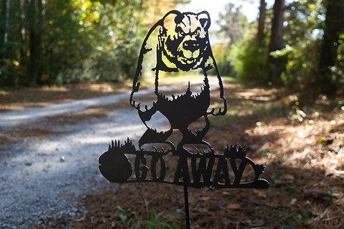 Go Away Yard Sign