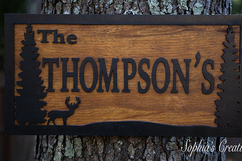 Nature Wood Sign