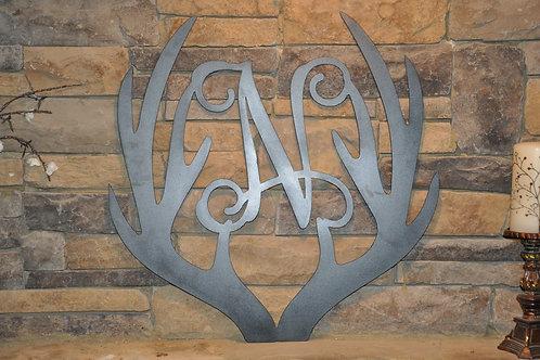 Steel Antler Initial Sign