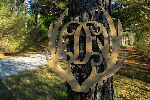 Antler With Initial Sign