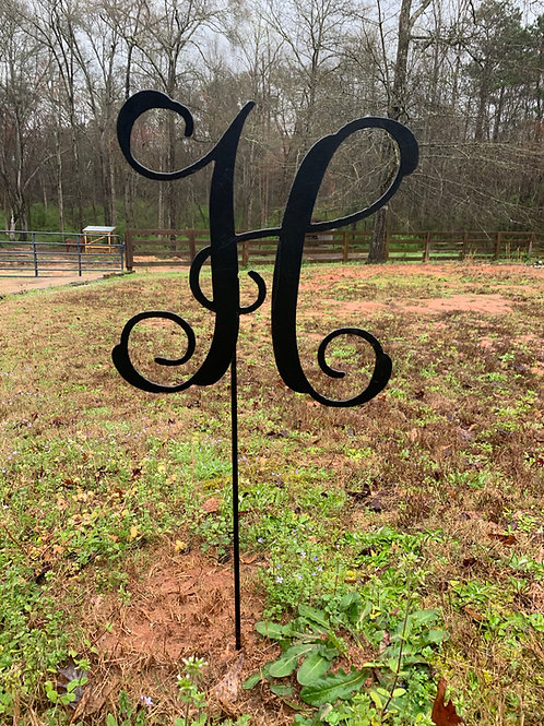 Letter Yard Stake Sign