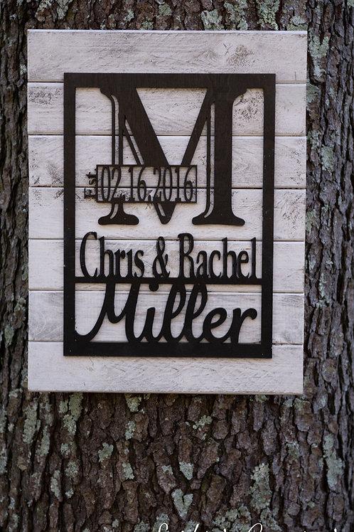 Custom Family Name Wood Pallet Sign