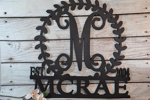 Tree Branch Style Wooden Name Sign