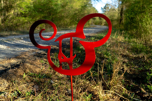 Steel Mickey Head Yard Sign