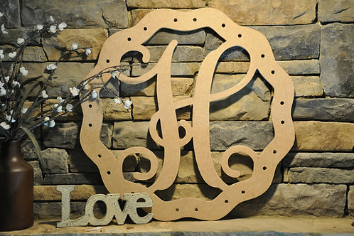 Ribbon Accent DIY Initial Sign
